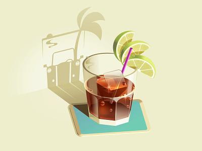 Cuba Libre in Havana 🇨🇺 drink vintage car palm tree pontiac beach havana cocktail cola coke rum libre cuba