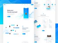 Minimal App Landing Page Concept
