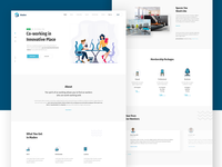 Co-Working Space Landing Page Concept