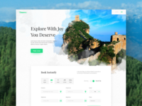 Travel Agency Landing Page Concept