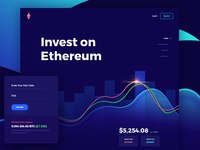 Ethereum Landing Page Concept