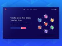 Blockchain System Banner Design Concept
