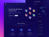 Block-chain Full landing Page Design Concept