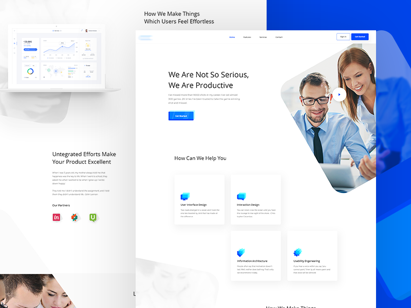 Agency Landing Page design agency business agency minimal blue color landing page ux ui minimal design minimal web design agency landing page