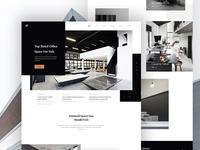 Office Rental Service Website Concept