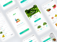 Grocery app design for iPhone X