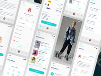 E-commerce UI kit for iPhone X