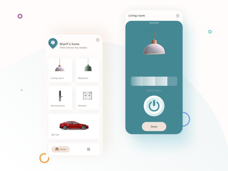 Smart Life app interface design