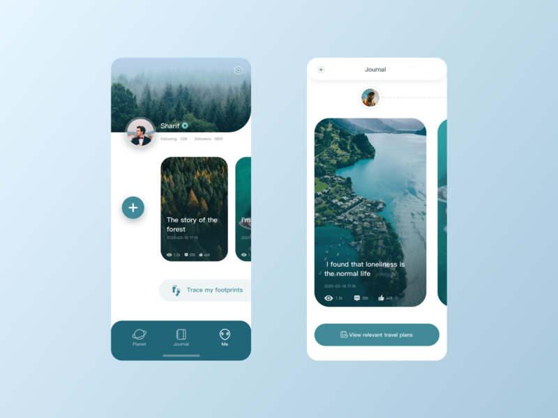 Traveler planet ux design interface ui