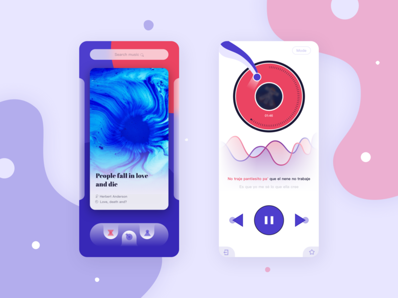 Music  APP Concept ux design interface ui