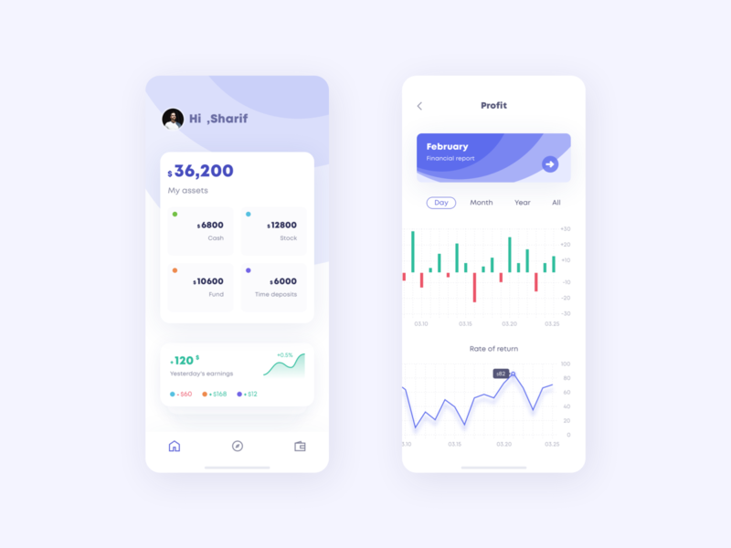 Financing APP design ux ui interface