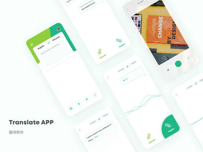Translate APP Pages ux design interface ui
