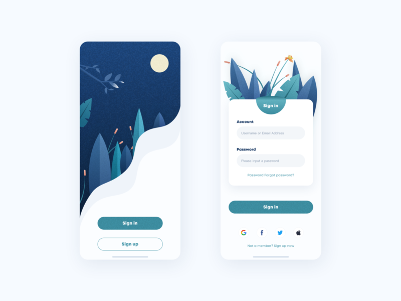 Sign up  interface illustration ux design interface ui