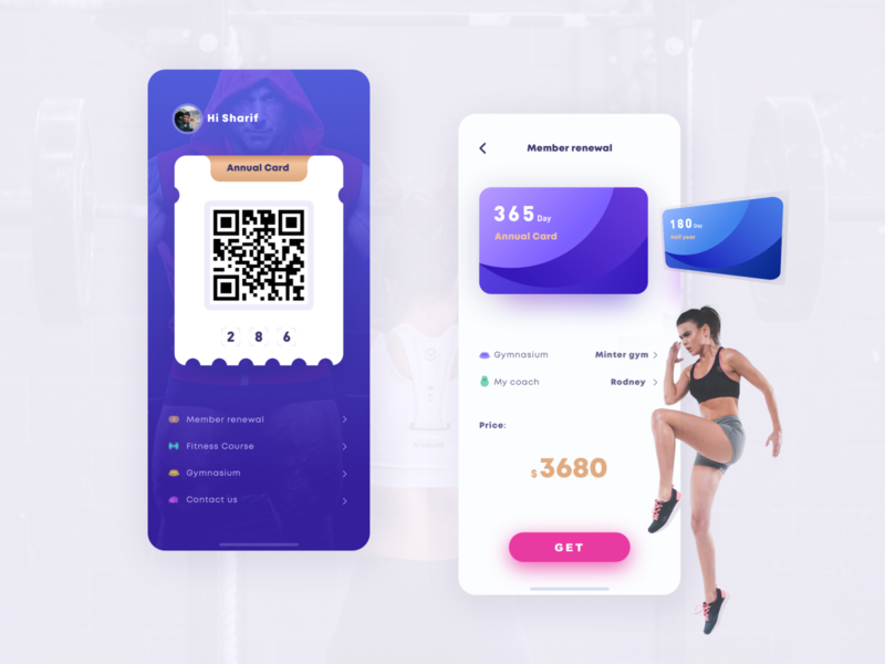 Fitness APP ux design interface ui