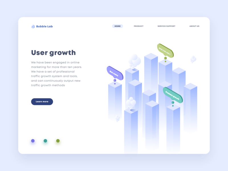 Bubble Lab illustration ux design interface ui