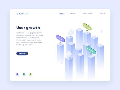 Bubble Lab illustration ux design interface ui