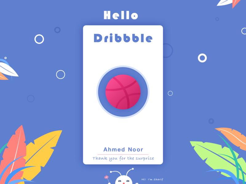 Dribbble Bubble illustration
