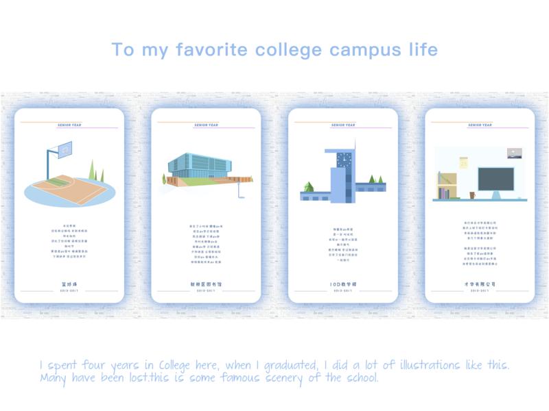 My favorite college campus life illustration