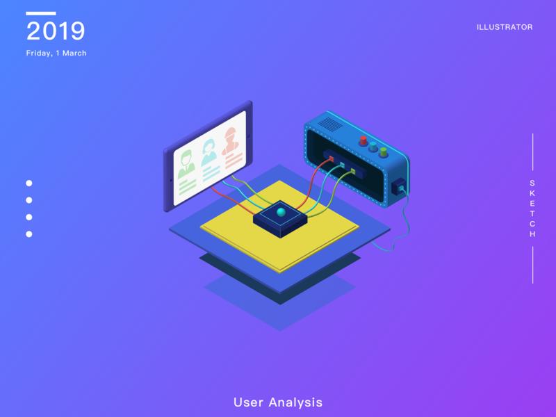 User Analysis 2.5d illustration