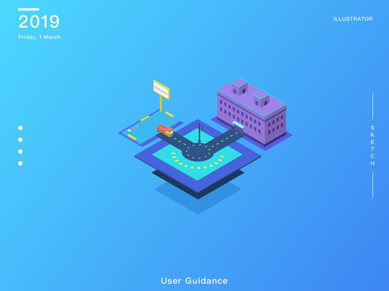 User guidance 2.5d illustration