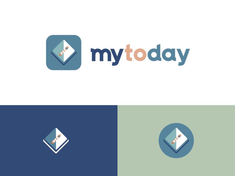 Mytoday    logo&APP icon design illustration logo ui