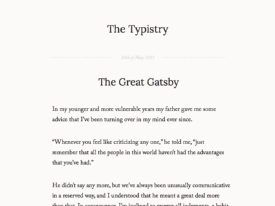 Typistry
