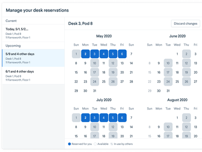 Airbnb for Desks office desks reservations date picker picker calendar modal web ui web design design ui