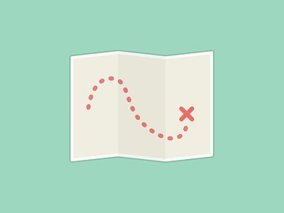 X Marks the Spot! sticker illustration fancy labs map treasure