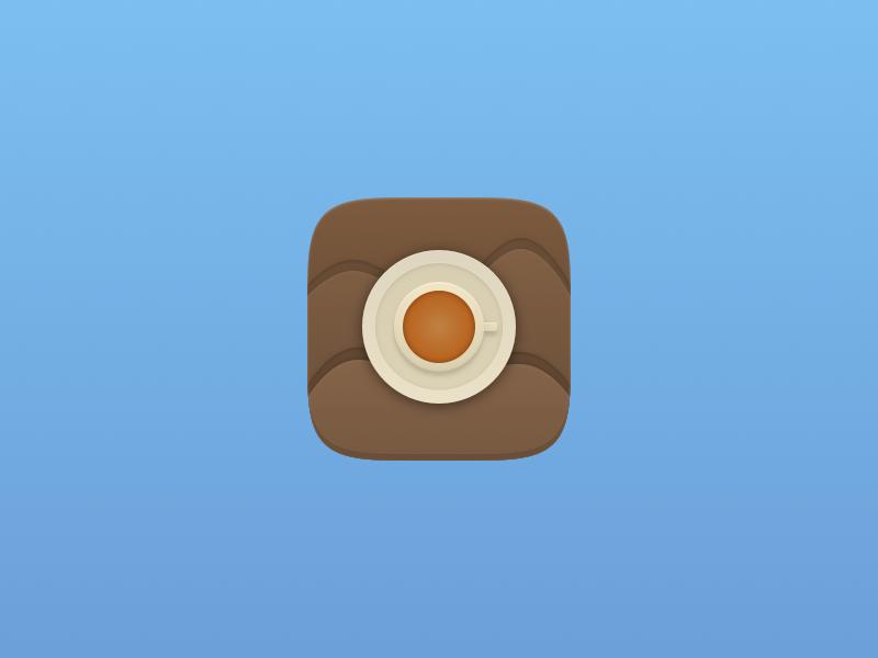 Espresso Icon ios7 ios sketch sketch app vector iphone superelipse squircle wtfjoniwhyisthissuchaweirdshape