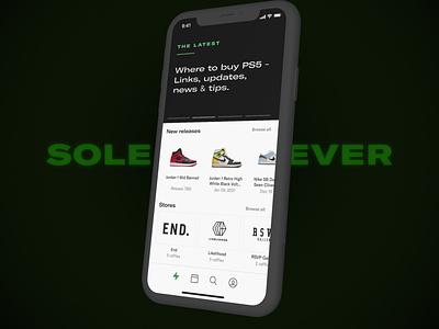 Sole Retriever Mobile mobile app design sneakers mobile react native ios