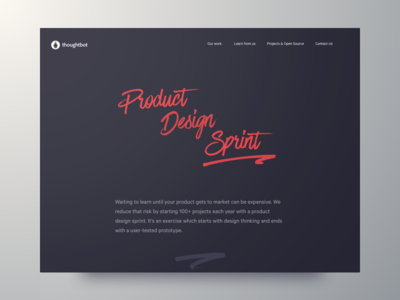 The Product Design Sprint marketing site landing page playbook calibre web thoughtbot