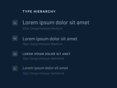 One type, two type, gray type, blue type component typography geogrotesque type