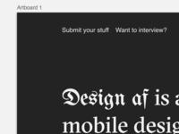 Design.af – Inspiration Feed