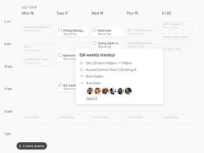 Calendar Event Detail View sketch popup modal calendar ui calendar design scheduling schedule event calendar