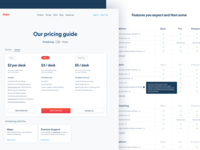 Pricing feat. Table