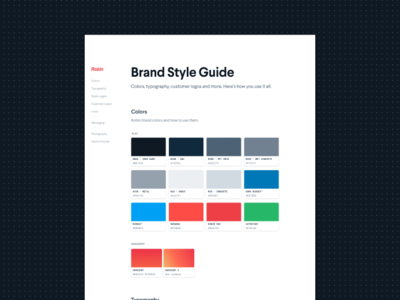 On Brand figma marketing brand guide style guide branding large type larsseit minimal landing page