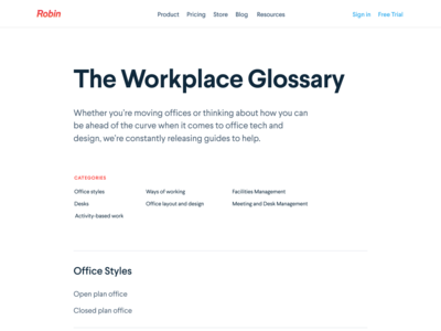 Office Buzzwords minimal responsive figmadesign figma buzwords dictionary definitions glossary