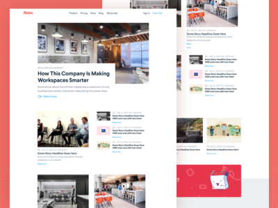 Press Dribbble blog design press page content content marketing figmadesign figma grid blog pressroom newsroom press