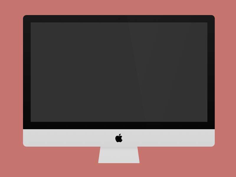 iMac, youMac, he/sheMac imac vector sketch minimal template resource download mockup sketch app imac template