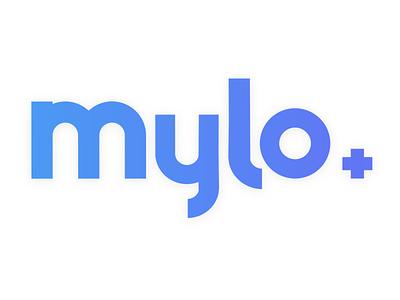 Mylo Logo logotype blue logo mylo