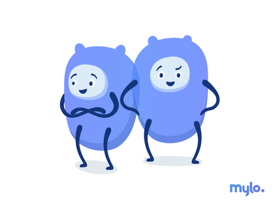 Say Hello to the Mylo'z !! language graphic design character mylo