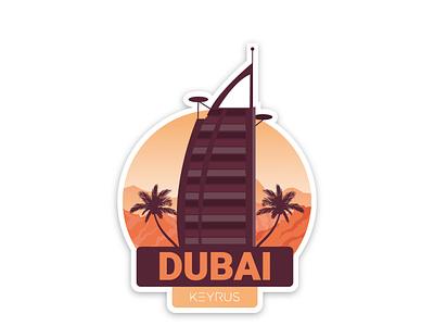 Dubai Branch Sticker sticker art desiginspiration keyrus uxui vector graphicdesign illustration branding