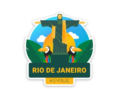Rio de Janeiro ux ui typography design graphics illustration vector sticker mule sticker design graphicdesign branding sticker art