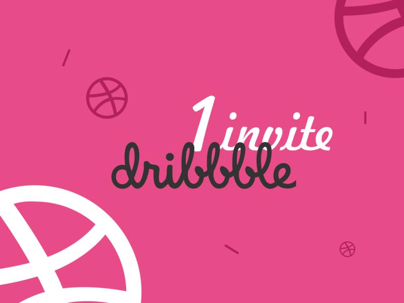 One Dribbble Invite invitation graphic design designer draft giveaway ui design dailyui graphic dribbble best shot dribbble invites dribbble invite dribbble adobe xd