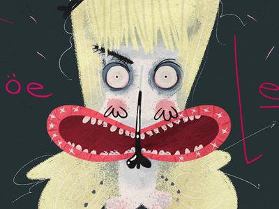 JOE LETZ photoshop méxico illustration drummer clown music industrial joeletz combichrist