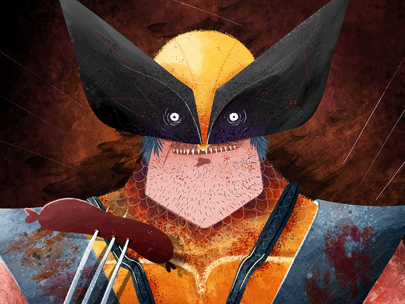 Wolverine in the morning lobezno tiger character photoshop brush mutant men xmen wolverine