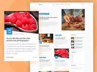 Puffinpress Blogging PSD Template.