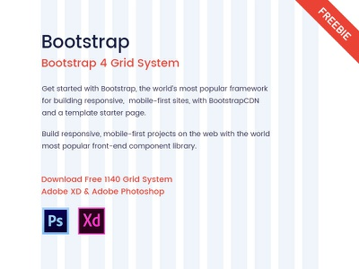 Freebie Bootstrap 4 Grid System 12 column bootstrap twitter bootstrap grid column wrapper container responsive 1140 grid grid system freebie bootstrap 4