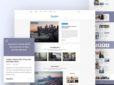 Escritor - Responsive Blogging HTML5 Template journal lifestyle news blog theme responsive newspaper news theme news magazine magazine blogging blogger blog