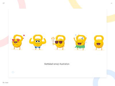 Kettlebell Emoji  fit yellow kettlebell web ui emoji